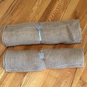 """Other - 2 Rolls of burlap 8"""" x 15' long each."""